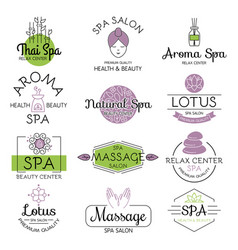 Health and beauty care spa badge vector