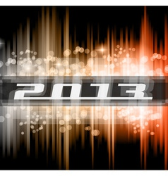 High Tech New Year 2013 vector image