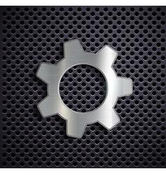 Industrial metal gear vector