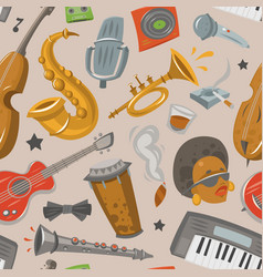 Jazz musical instruments tools jazzband music vector