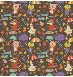 Joyful autumn pattern vector