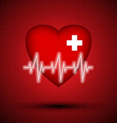 Medical design - heart cardiogram vector image vector image