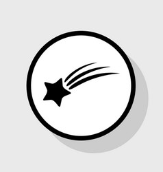Meteor shower sign flat black icon in vector