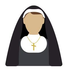 Nun cartoon icon isolated vector