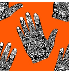 Palm hand drawn zentangle vector