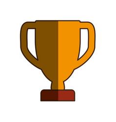 Prize cup trophy pictogram vector