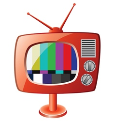 red retro tv set vector image vector image