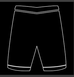 Shorts the white path icon vector