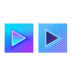 Stylish glamor play buttons brilliant blue pink vector