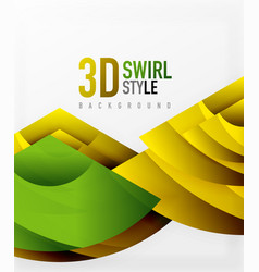 Swirl and wave 3d effect objects abstract vector