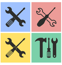 tool icon set vector image