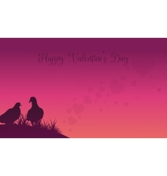 Two dove valentine theme backgrounds vector