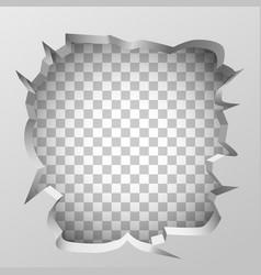 White broken wall concept clean vector