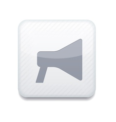 white loudspeaker icon Eps10 Easy to edit vector image