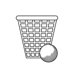 Ball and basket of golf sport design vector