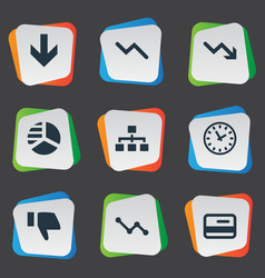 Set of simple impasse icons vector
