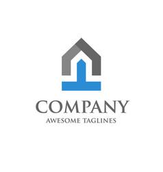 Start up of real estate logo design vector