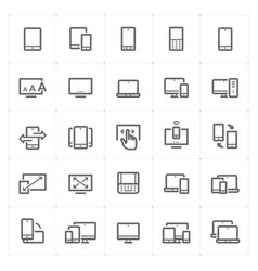 Icon set - device and responsive vector