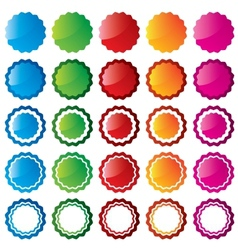 Colorful price sale tags collection Stars vector image