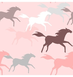Running horses seamless pattern vector