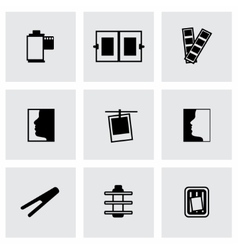 Photo icon set vector