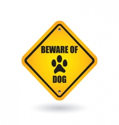 Beware of dog sign vector