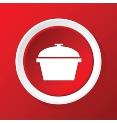 Pot icon on red vector
