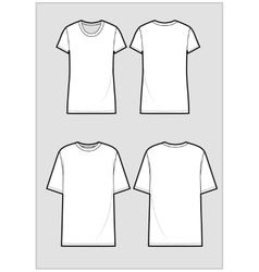 Technical sketch of white t-shirt vector