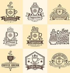 Coffeehouse emblems vector