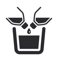 Liquid pour icon vector