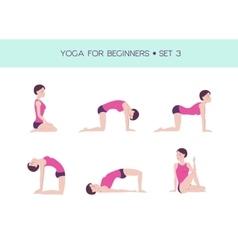 Yoga for beginners basic set vector image