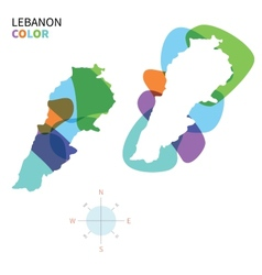 Abstract color map of lebanon vector