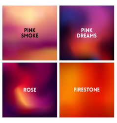 Abstract red pink blurred background set 4 vector