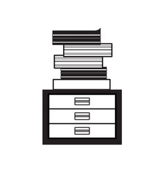 Academics books icon vector