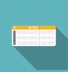 air ticket or boarding pass icon vector image vector image