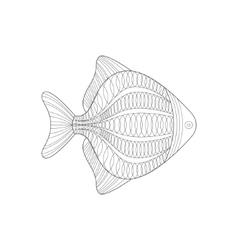 Aquarium Fish Sea Underwater Nature Adult Black vector image vector image