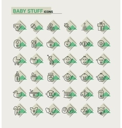 Baby stuff icons vector