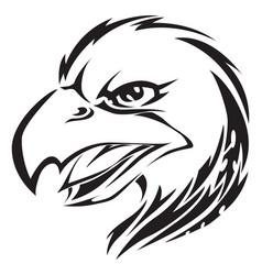 Eagle head tattoo vintage engraving vector