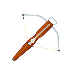 flat style colored medieval crossbow arrow icon vector image vector image