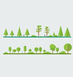 Flat trees vector image vector image