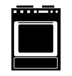 Gas stove icon simple style vector
