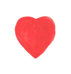 hand-drawn painted red heart element for your vector image vector image