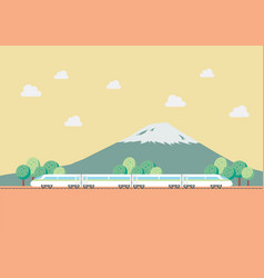 High speed train with nature background vector
