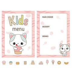 Kids menu design kids menu design vector