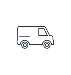 minivan transportation car thin line icon vector image