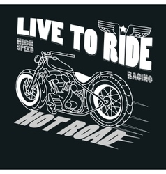 Motorcycle Racing Typography Graphics T-shirt vector image