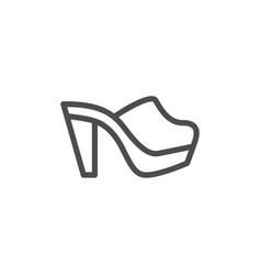 Mule shoe line icon vector