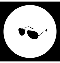 Pilot classical sun glasses simple black icon vector