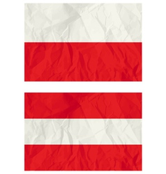 Poland and Austria flags vector image
