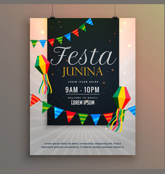 Poster for festa junina holiday greeting design vector